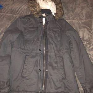 Aeropostale winter coat with faux fur hood